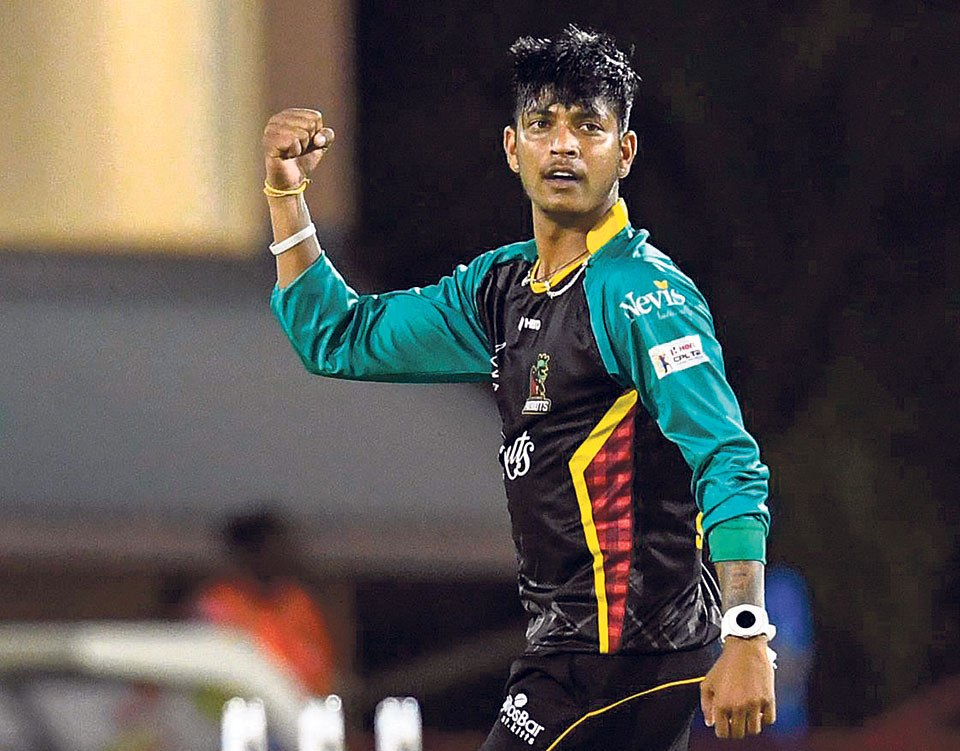 Sandeep adds one more wicket to his tally in CPL