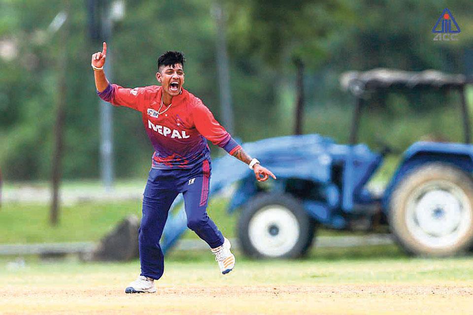 Lamichhane heroics in vain as Hong Kong crushes Nepal to reach final