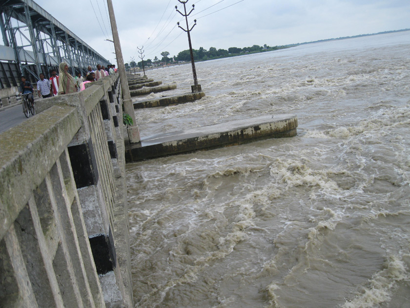 Saptakoshi records this year's highest water level, red light on