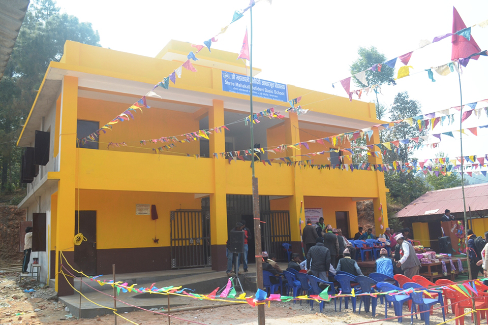 Students elated with new quake-resilient school