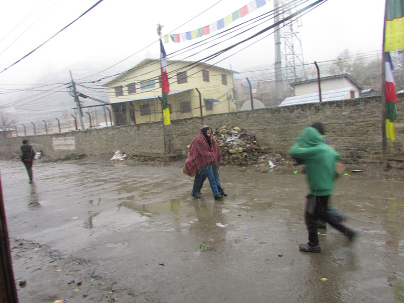 Snow fall in Humla makes life difficult