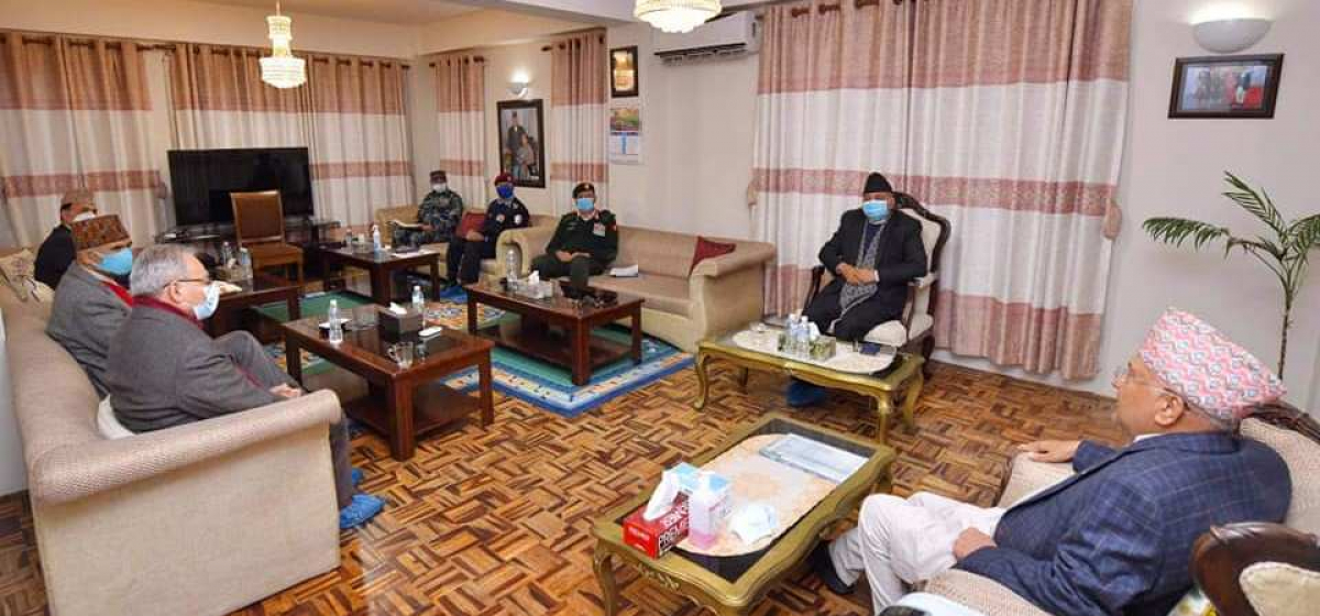 PM Oli directs chiefs of all the security agencies to stay on high alert
