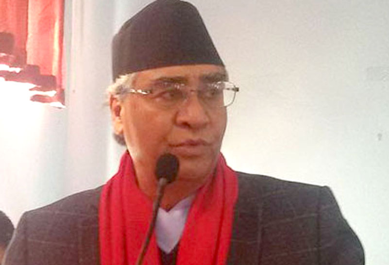 Congress Prez Deuba urges party cadres to hold protests to unseat Oli-led govt
