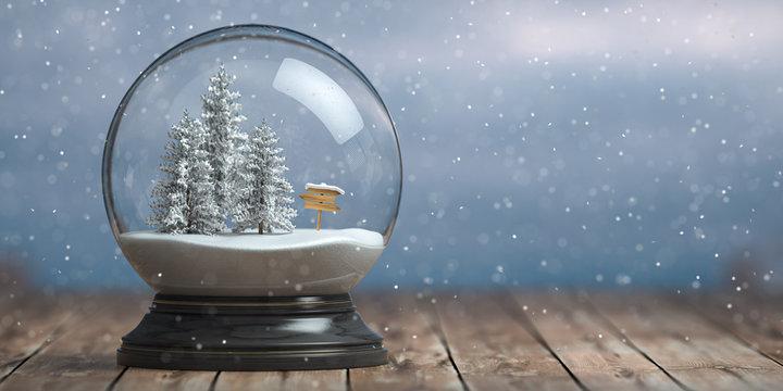 Coincé dans une boule à neige