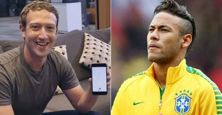 Mark Zuckerberg challenges Neymar