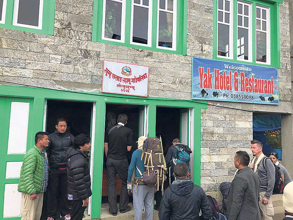 Khumbu rural municipality collects Rs 40 million in tourist entrance fee