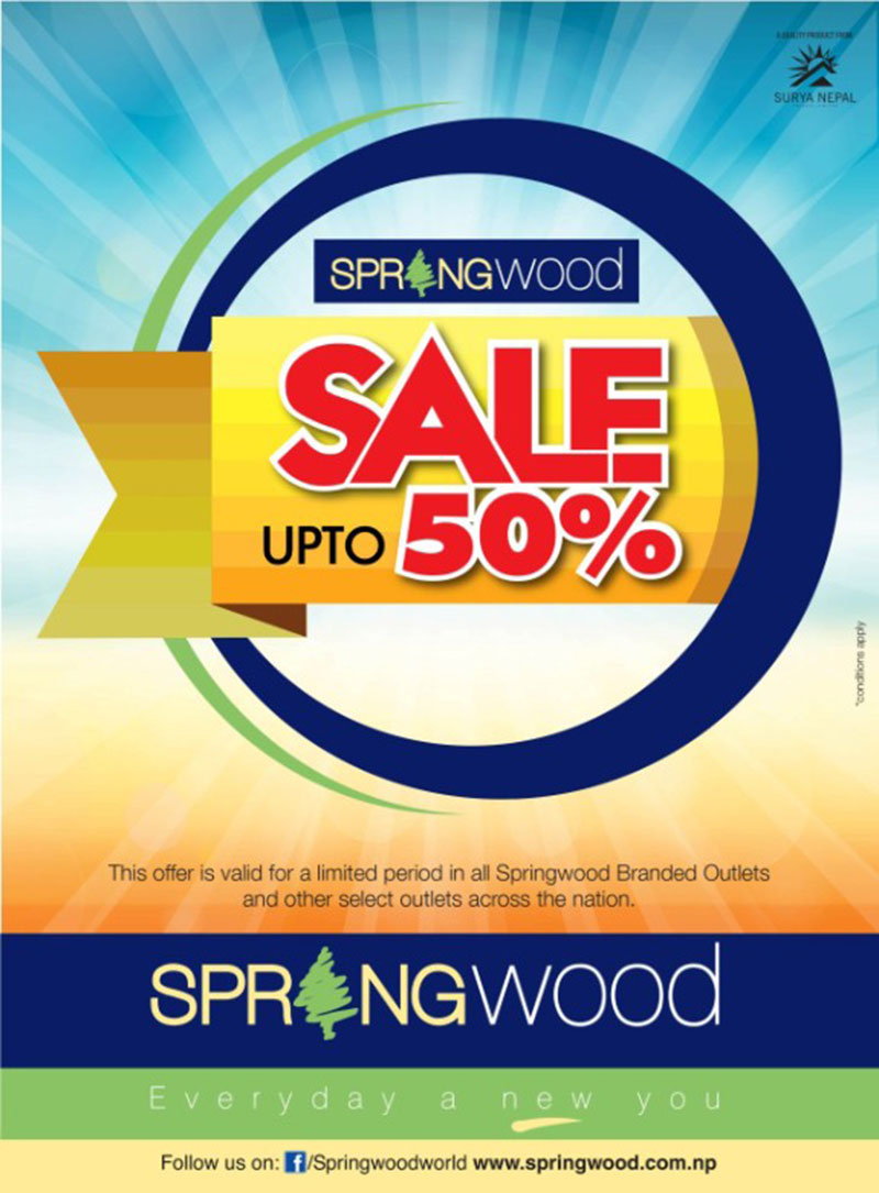 Up to 50 percent discount on Springwood apparels