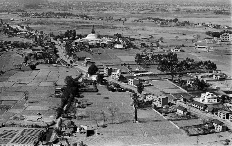 Nostalgia: Aerial image of the Baudhanath in 1973