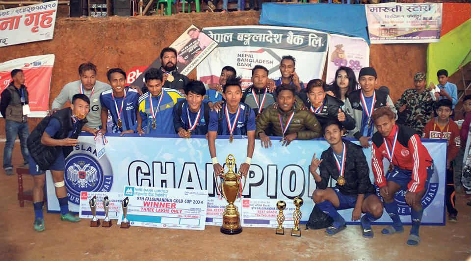 Sunsari XI wins Falgunanda Gold Cup
