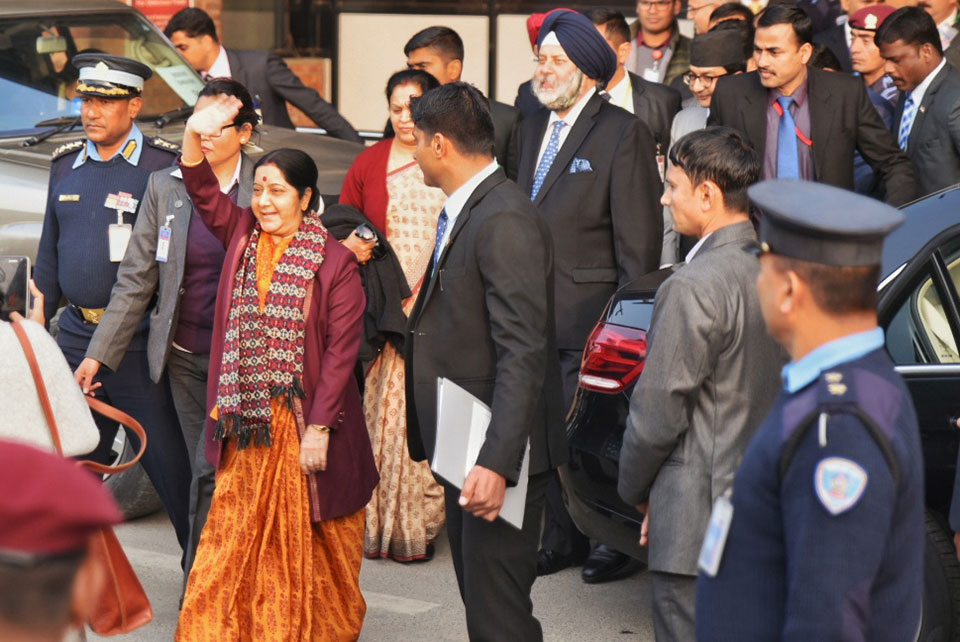 Swaraj visit courts controversy over timing