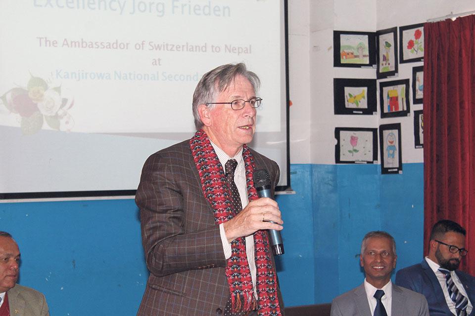 Swiss ambassador at Kanjirowa