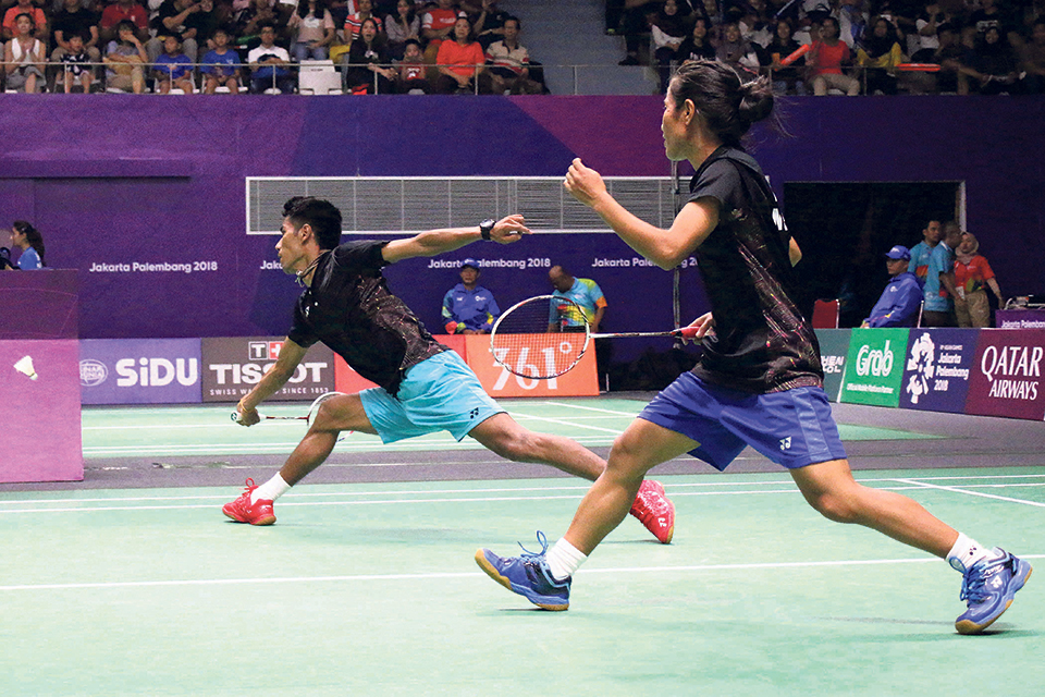 Shrestha pair, Tamang add to Nepal's glory run in badminton at Asian Games