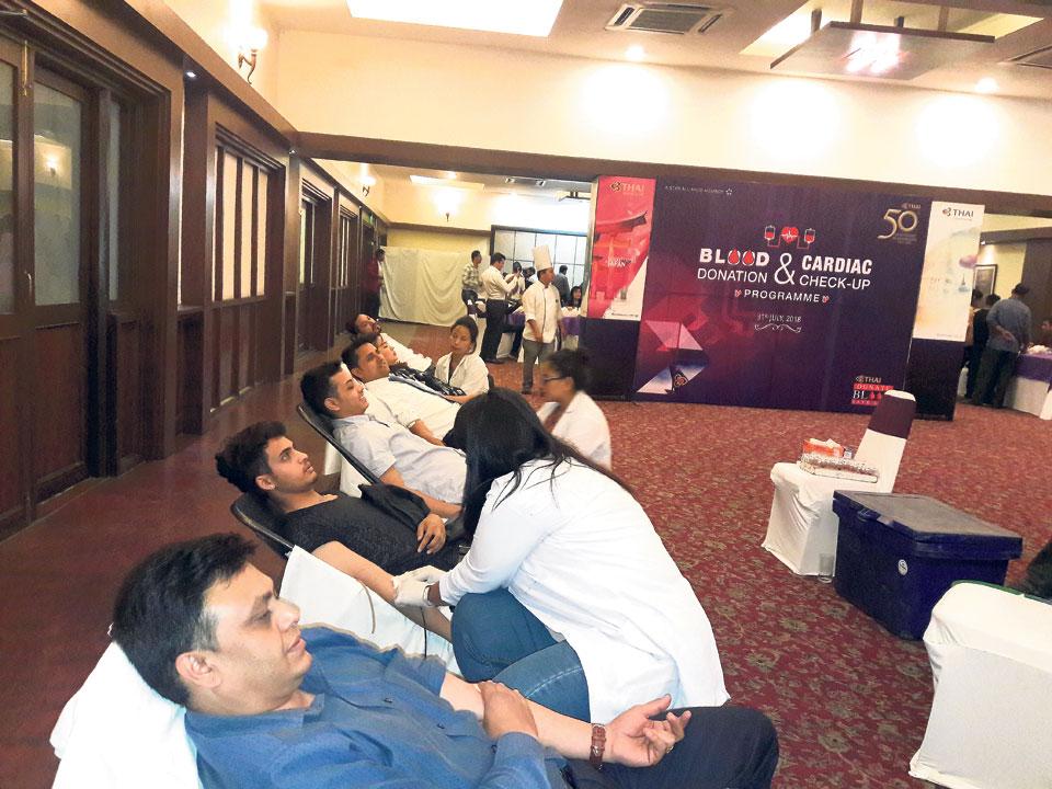 Thai Airways organizes health check-up camp