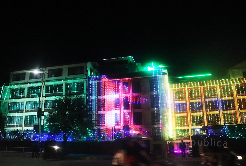 In pictures: Kathmandu illuminated with lights