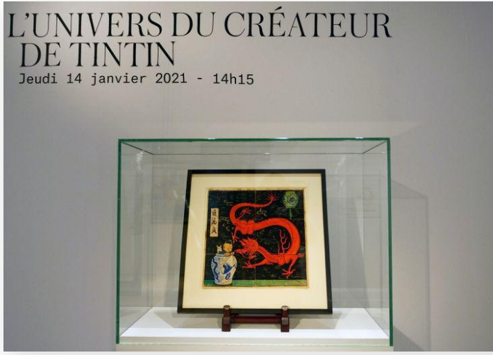 After years in a drawer, Tintin painting sells for 3.2 million euros