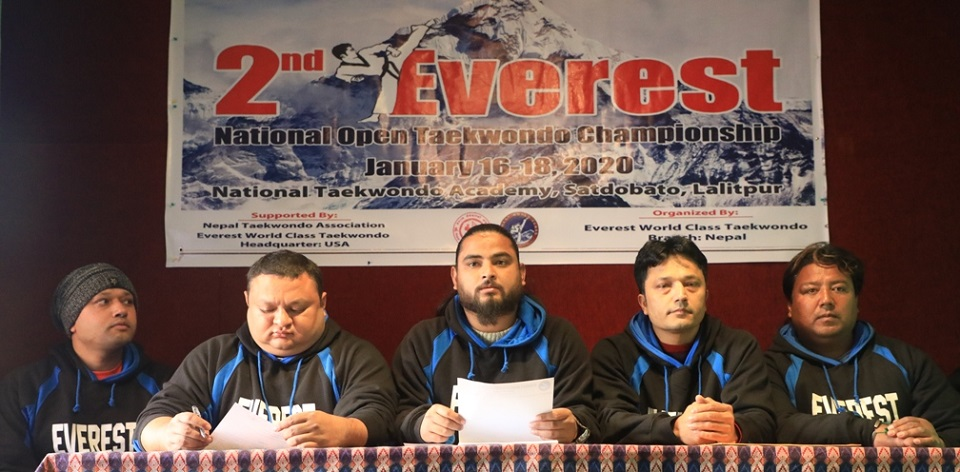 'Second Everest National Open Taekwondo Competition' to be held in January third week