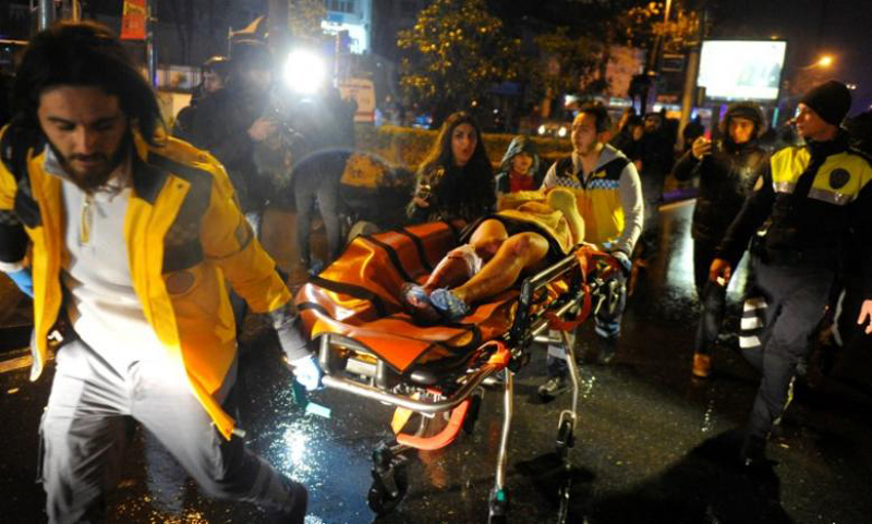 At least 35 killed in New Year gun attack at Istanbul nightclub