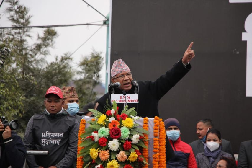 Madhav Nepal urges EC to settle the party's authenticity disputes on majority basis