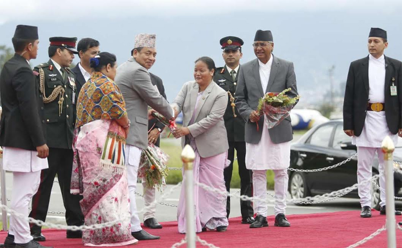 Vice President Pun leaves for China