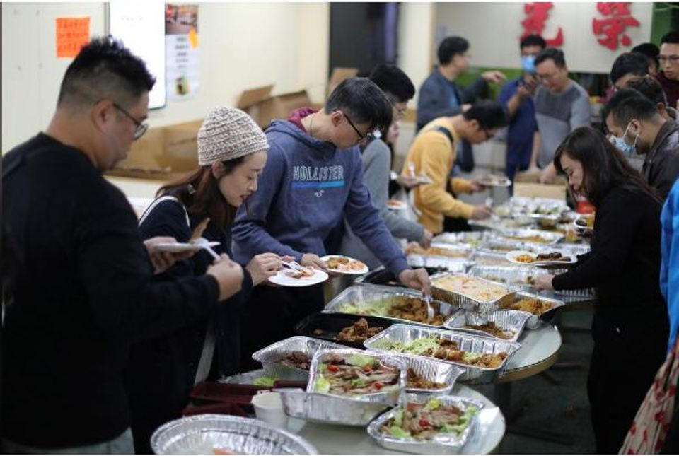 'We're all family now': Protesters gather for free Christmas dinner in Hong Kong