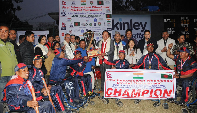 Nepal clinches  International Wheelchair Cricket Championship