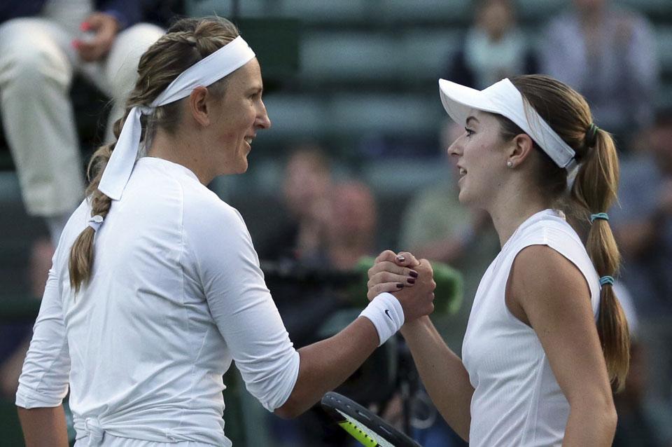 Azarenka gets going after slow start at Wimbledon