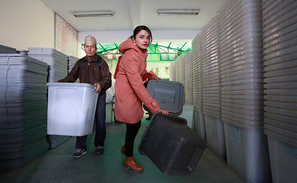 In Pictures: Ballot boxes ready for second phase