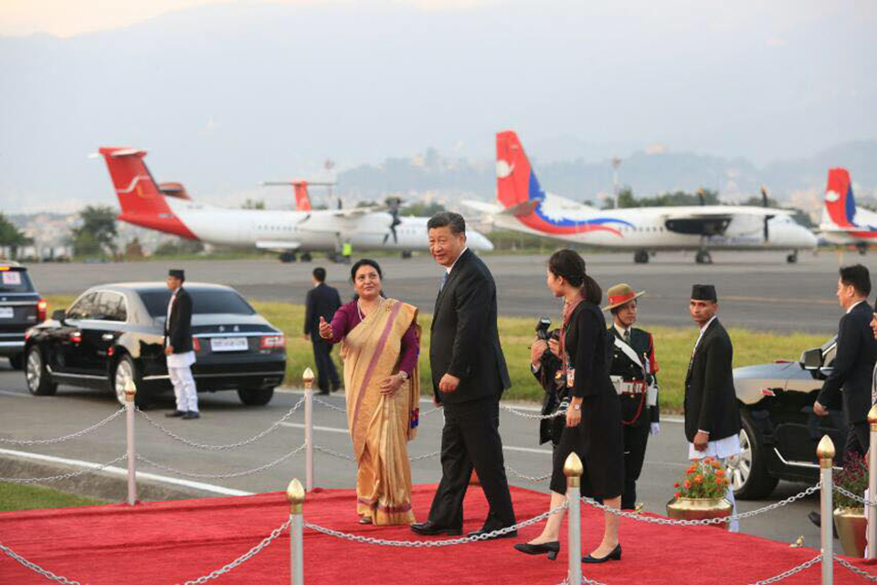Chinese President Xi Jinping arrives in Kathmandu (with photos)