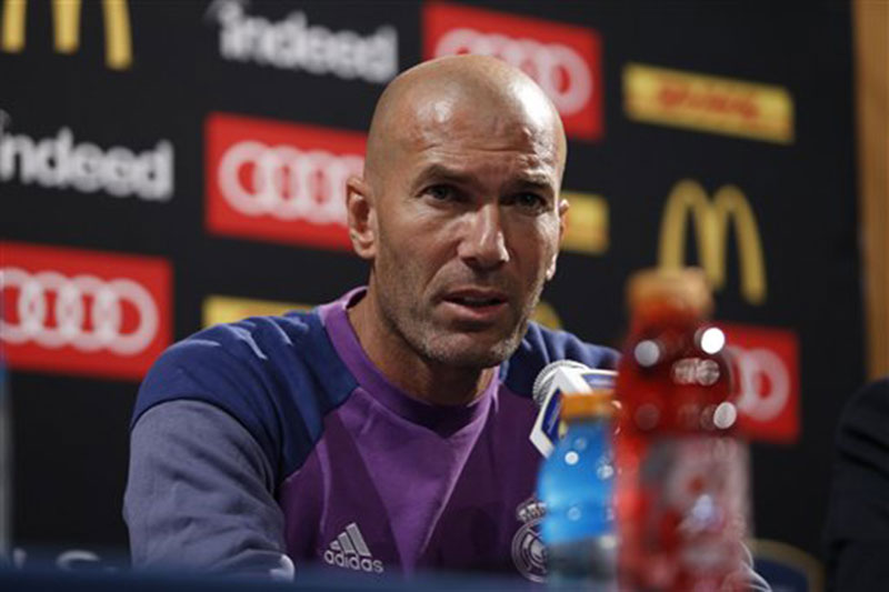 Zidane includes son on Madrid's squad for UEFA Super Cup
