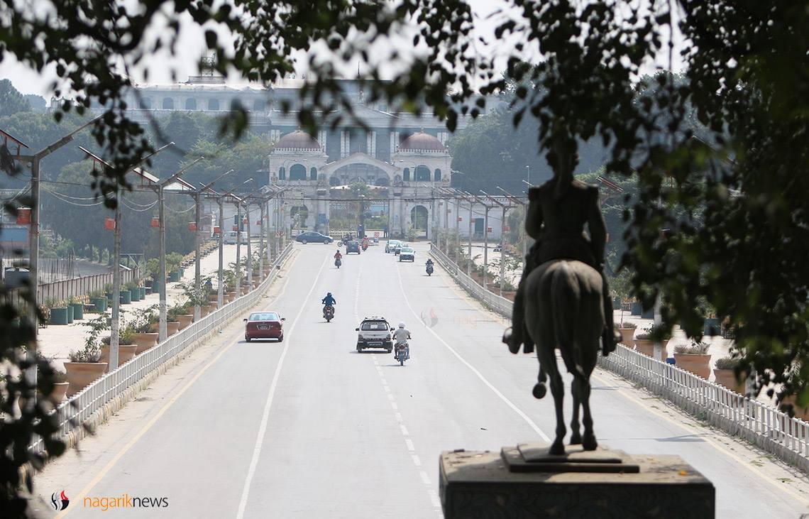 Silent Kathmandu roads in Dashain (Photo feature