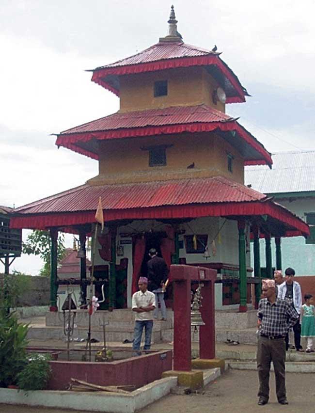 Gajur Mukhi temple in Ilam