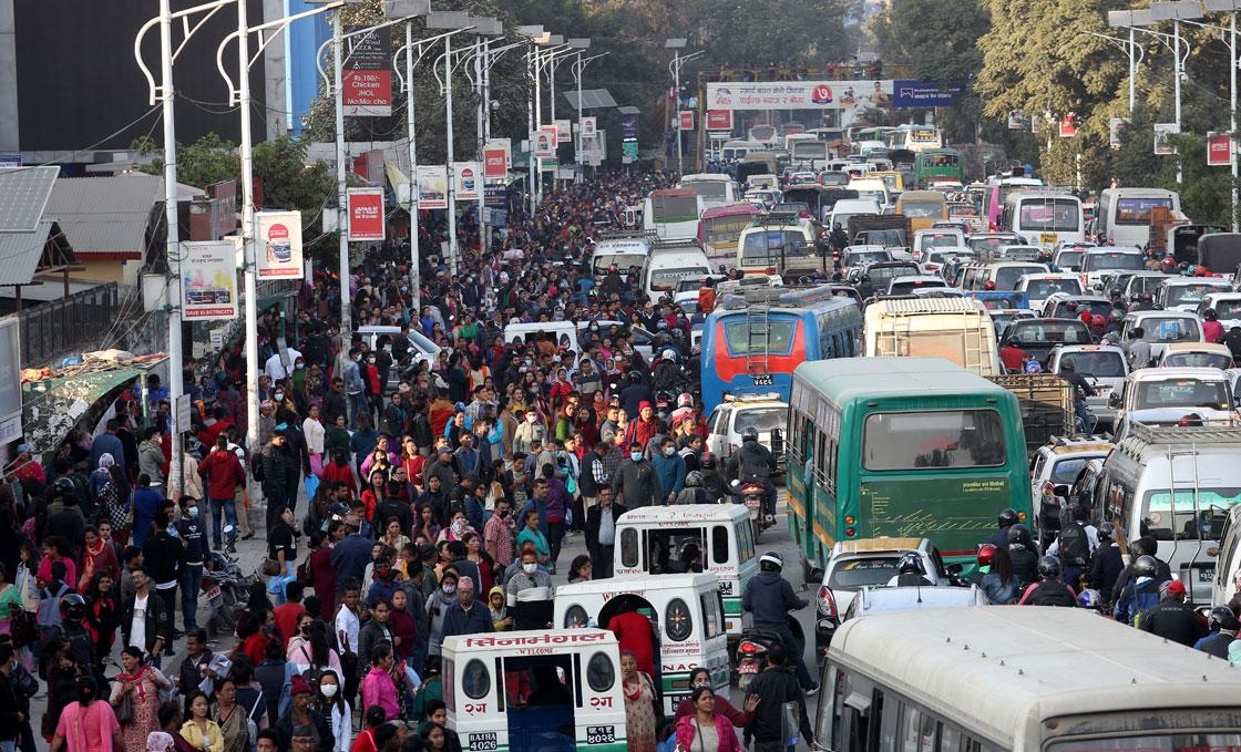 Kathmandu's Traffic Chaos: Vehicles stuck in major road sections